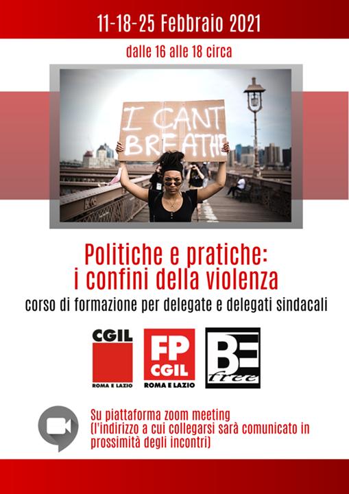 Formazione violenza CGIL Lazio